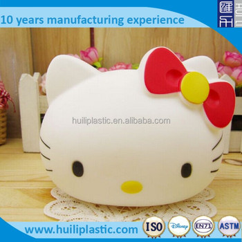 Factory custom make OEM design anime plastic money banks,customized plastic anime cartoon character money bank of OEM designs
