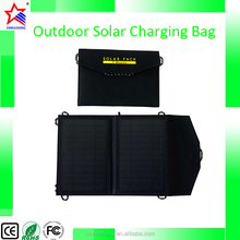 Folding portable solar mobile phone charge bag, outdoor solar charging bag 7W