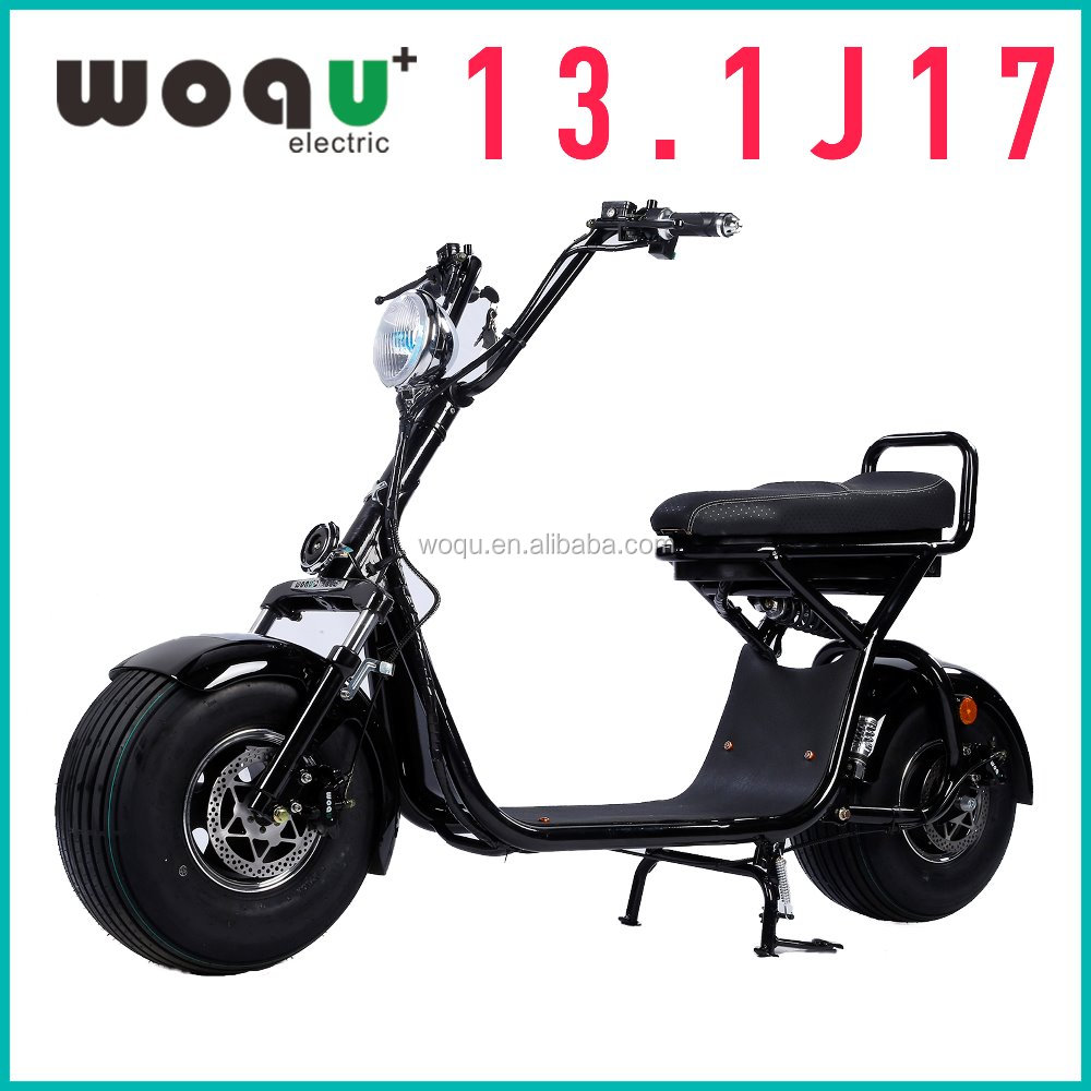2017 New Product 1200W Motor 72V12ah Battery Harley citycoco/seev/woqu electric mobility city scooter