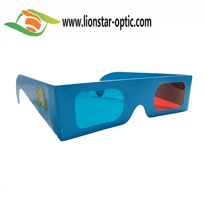 Wholesale Paper Red Cyan Glasses 3D Movie Glasses Red  blue 3d glasses