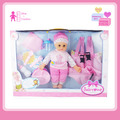 2017 newest hot sale 14 inch cotton baby doll with 12 IC and accessories.