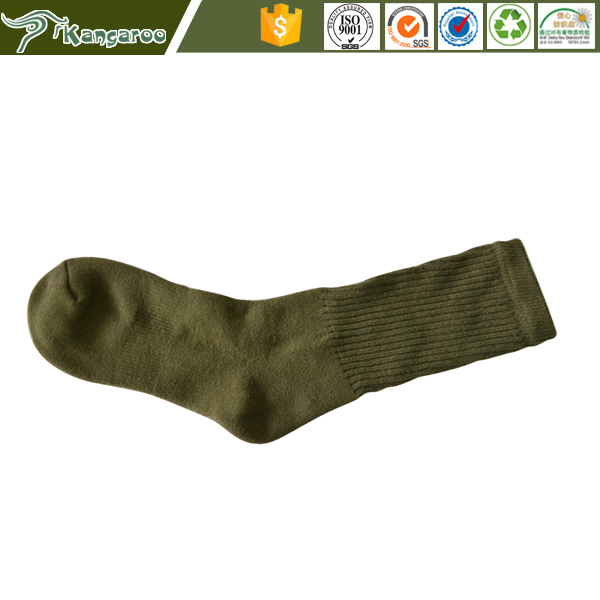 100% Cotton Terry Double Needle Manufacturer Military Custom Sport Socks