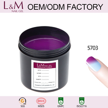 L&M brand factory soak off color changing nail gel polish professional 7.3ml free samples