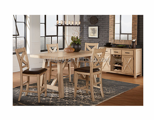 hot selling solid wood dining sets/ 4 Piece Small Kitchen Table And Chairs Set