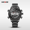 2015 WEIDE Solid Stainless Steel Band Watches WH3406B Vogue LCD Chronograph Watches Alibaba Express Watches Men