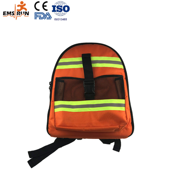 Special Design Orange Nylon Emergency Device Backpack