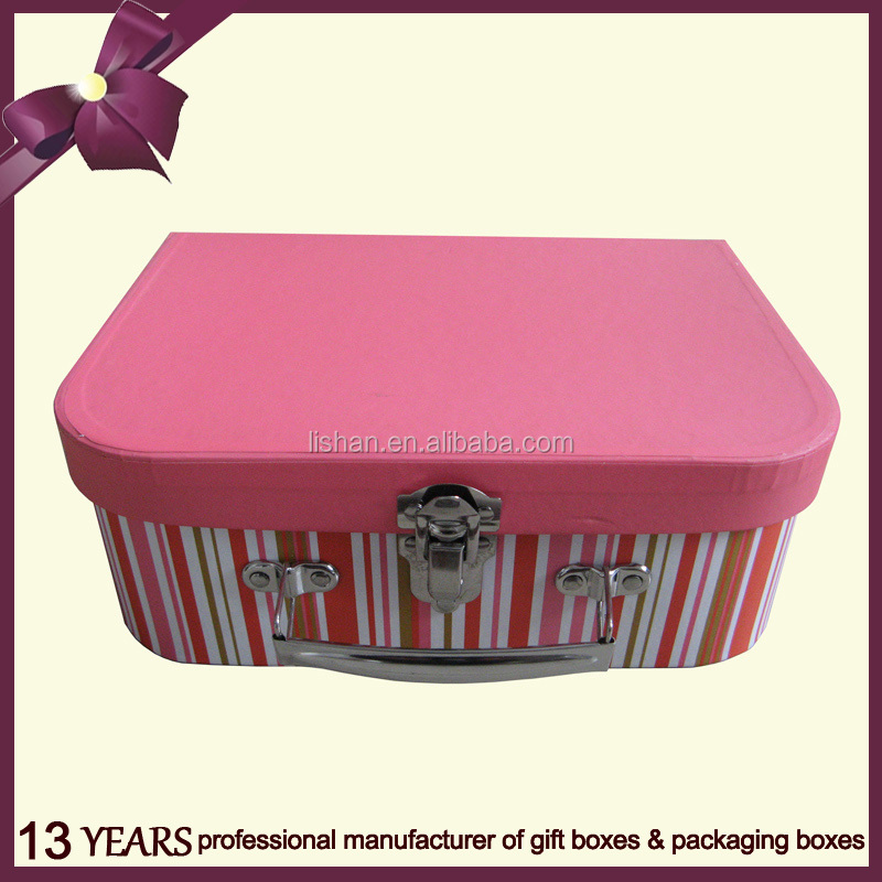 Small paper suitcase gift box made in China