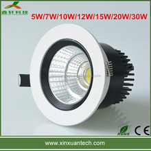 Decorative High Power recessed ceiling 7w led downlight