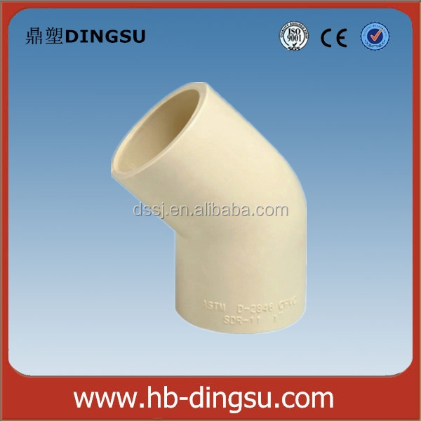 Chinese Big Manufacturer Cheap Good-shaped ASTM CPVC Pipe Fittings 45 Deg Elbow