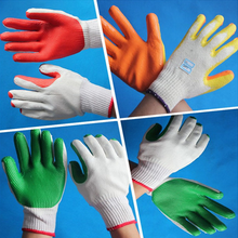 Rubber Palm Coated Work Safety Hand Gloves