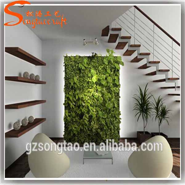 2016 new product plastics vertical green grass wall decor for New home products 2016