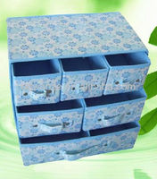 household no-woven storage newest design floral Lingerie storage box with drawer