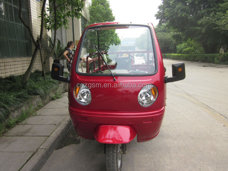 cargo three wheeler/semi-cabin three wheel motorcycle