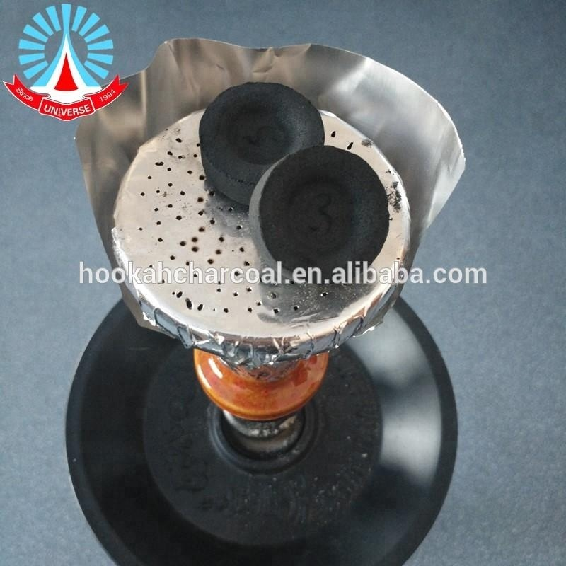 Smokeless round shape quick lite 33mm /40mm hookah shisha charcoal Golden River charcoal