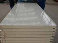 color steel skin 100mm polyurethane insulated sandwich panel price