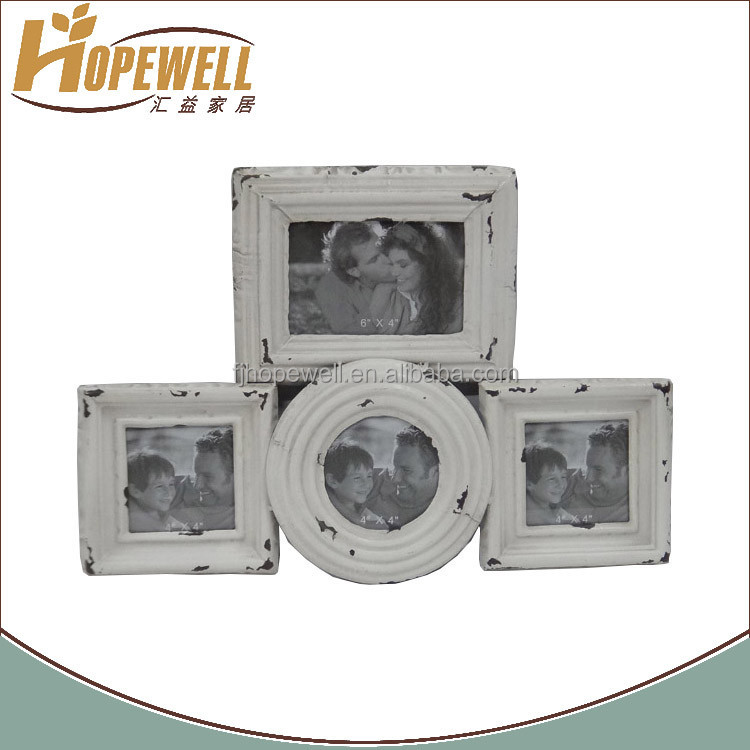 Ivory iron open multi happy birthday picture frame for multiple photo lover