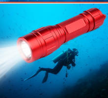Hot Sale 2017 Aluminium Most Powerful Rechargeable 10W XML 2 LED led Waterproof Diving Flashlight Torch Light