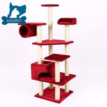 Cat Tree Scratcher Play House Condo Furniture Bed Post