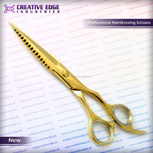 Unique Gold Barber Hairdressing Hair Cutting Scissors/shears (Top Quality)