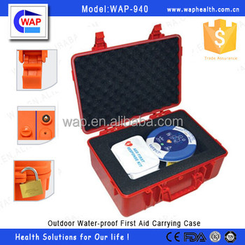WAP-health waterproof IP67 Empty first aid box plastic carrying case