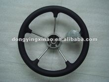 stainless steel steering wheel-W/PU foam