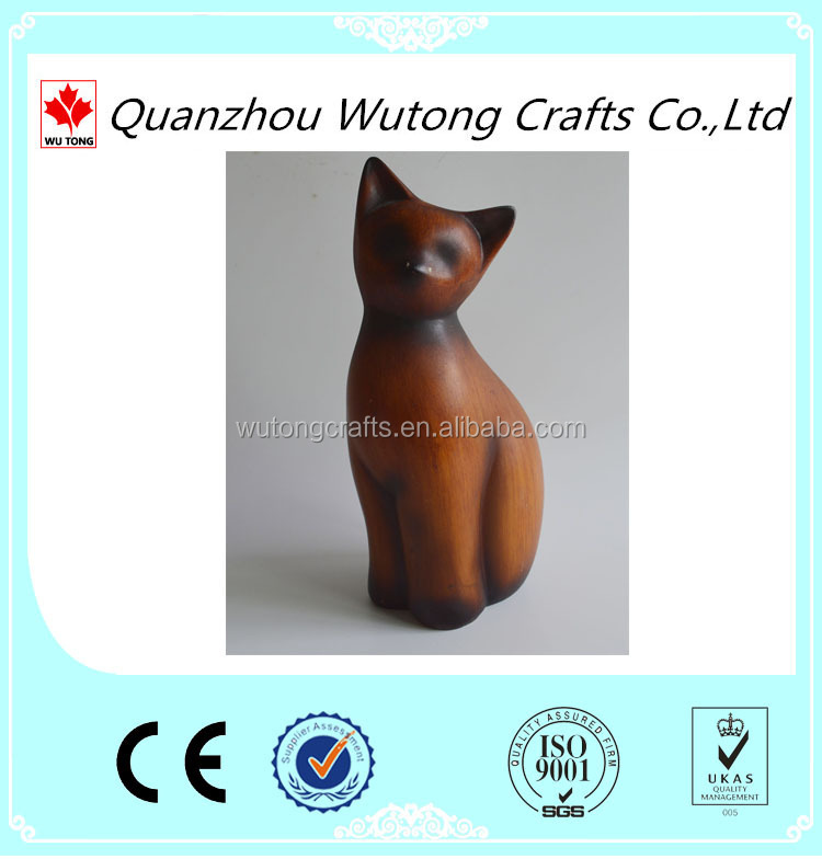 Resin cat figurine home furnishing articles wholesale