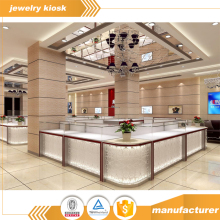 Illuminated Jewelry Exhibitor Store Interior Design Shopping Mall Diamond Jade Jewelry kiosk Decoration