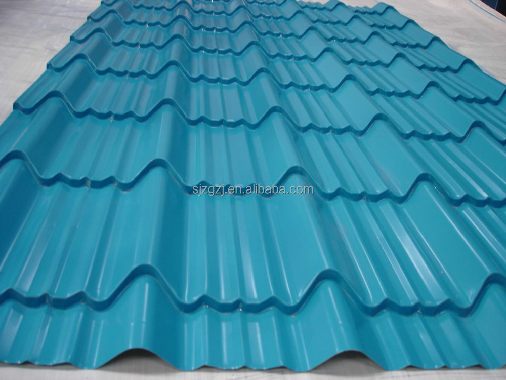 galvanized corrugated color coated roof tile made in China