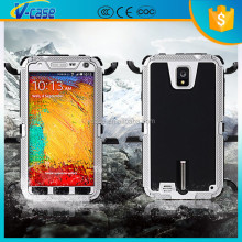 Metal + PC 100 percent waterproof phone cover case for samsung galaxy note 3 neo
