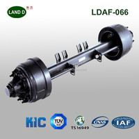 Truck trailer parts American type light duty 10T 1820mm track small trailer axle for sale