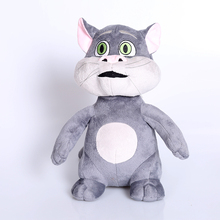 big eyes gray cat plush toy