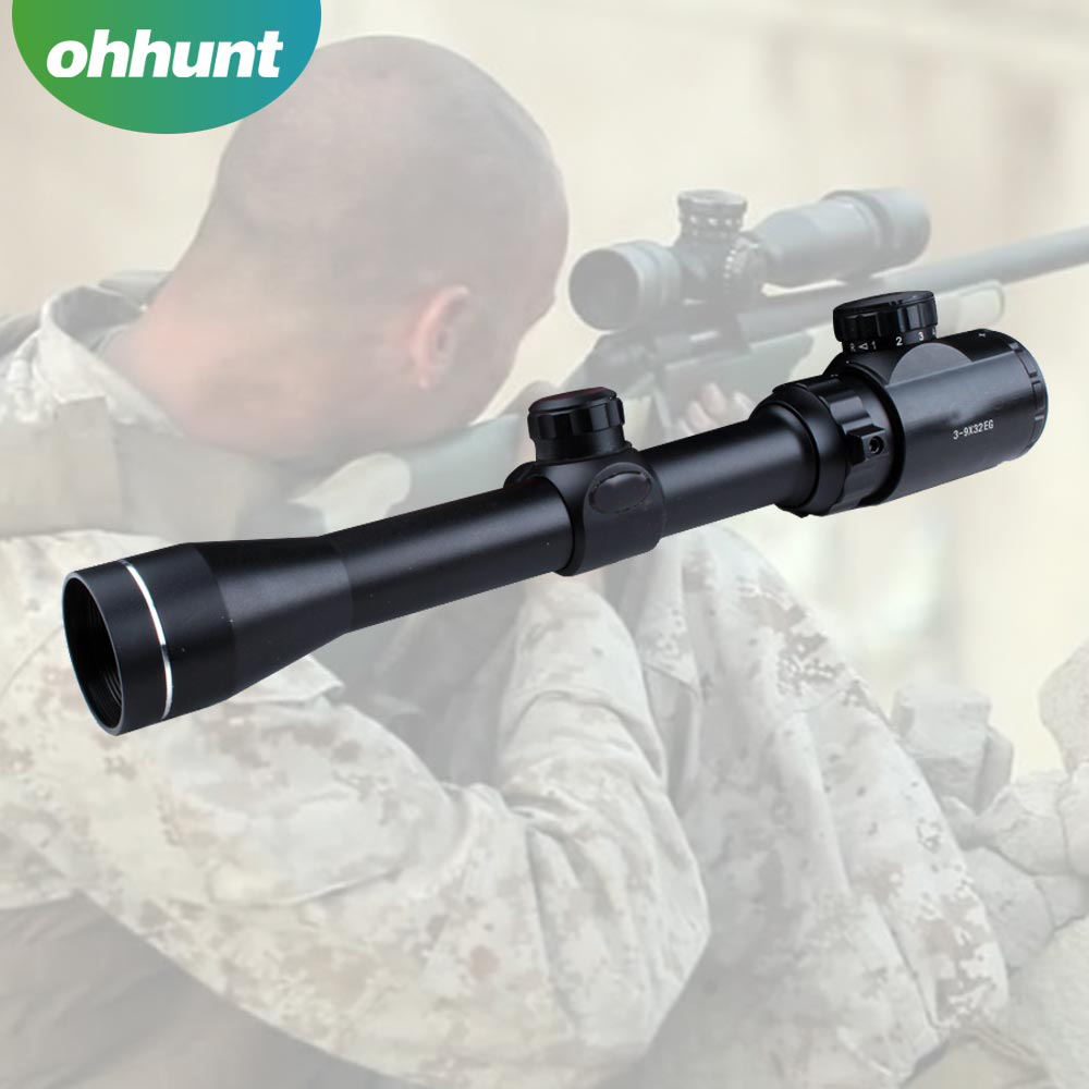 Factory Price Red green illuminated gun scope 3-9x32E Optical Riflescope For Ar15 M16