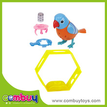 Battery operated animal cage toy talking parrot toys