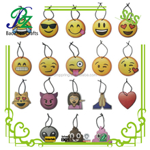 Personalized emoji yellow faced air fresheners/hanging car air fresheners/paper car fresheners