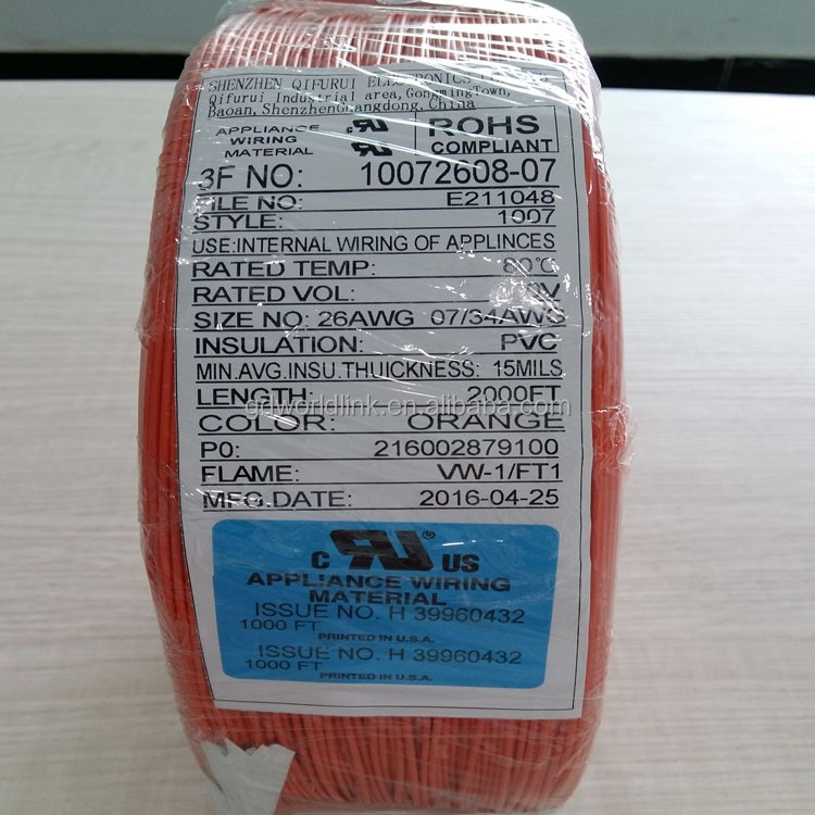 Wholesale PVC insulation electric UL 1007 hook-up lead wire