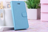 Fashion Design case for iPhone 4S Card Holder Rubberized Silk pattern PU Leather cover made in china