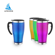 Hot 201 single-layer stainless steel plastic wide mouth mug