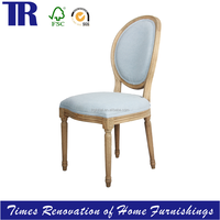 Louis Medaillon reproductionChair,Round Back oak Wood DIning Chair ,armless Upholstered Dining Chair