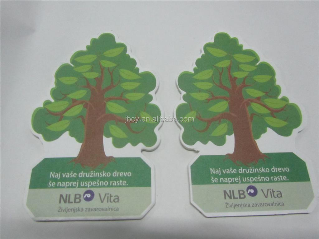 2015 good selling paper car air freshener in opp bag and backing card