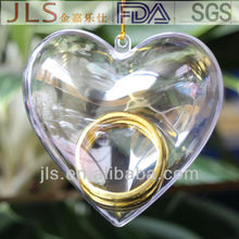 Factory high quality heart shaped large crystal candy box unique wedding gifts