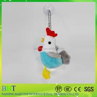 soft chicken chinese toy manufacturers,chinese new year plush toy chicken keychain