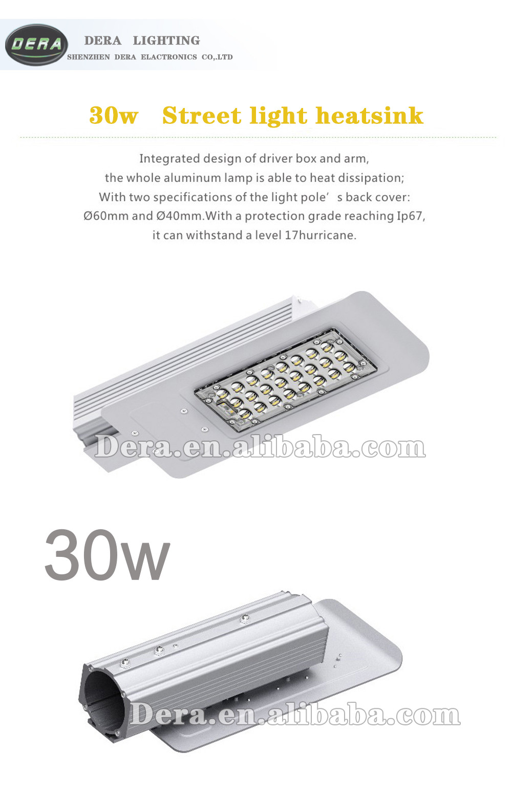 2016 price new hot sale chinese factory power solar 30w 30 watt led street light LED outdoor Lighting