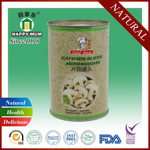 Natural Food Canned Sliced Mushroom in Tin Can Food