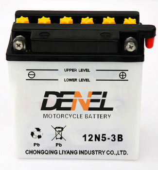 high quality Motocicleta /scooter Battery china 12 v5ah (12N5-3B)