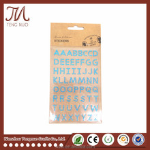 DIY Decorative Alphabet Letter Crystal Rhinestone Stickers For Scrapbook
