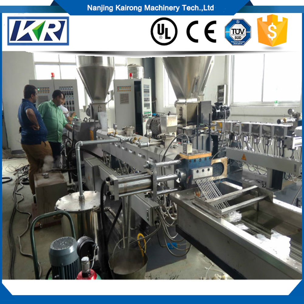 PVC Plastic WPC Compounding Pelletizing Granulator Line/PP PE PLA Film Plastic Recycling Machine and Pelletizer