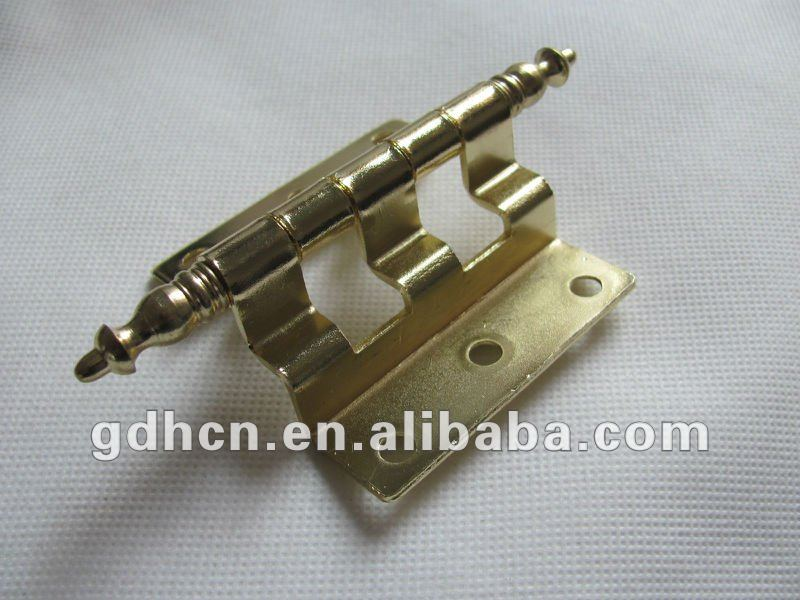 "4.5"" Length Non-Mortise Hinges with crown tipped,bright brass"