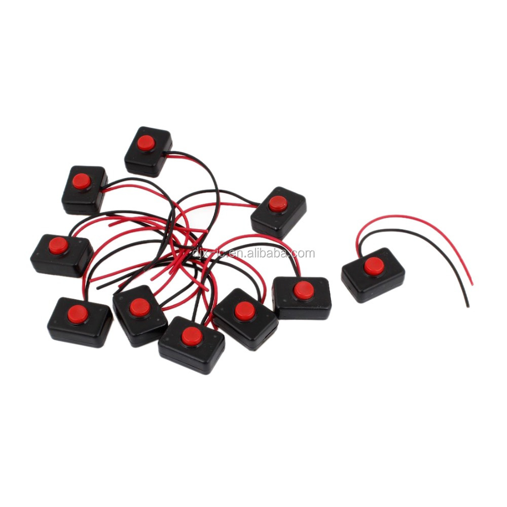 <strong>10</strong> <strong>x</strong> AC for Car Auto Horn 250V 3A 2 Wire Plastic Momentary Push Button <strong>Switch</strong>
