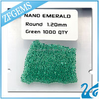 wuzhou wholesale 1.2mm nano emerald russian emerald