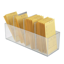 Wholesale Clear Acrylic Storage Box for Repair Envelopes File Holder Letter Display Rack Organizer with Removable Dividers